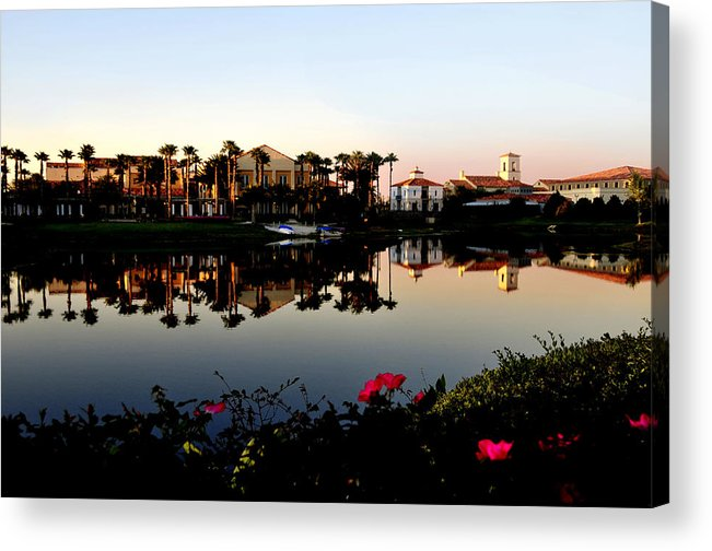 Solivita Acrylic Print featuring the photograph Solivita Town Center by Lyle Huisken