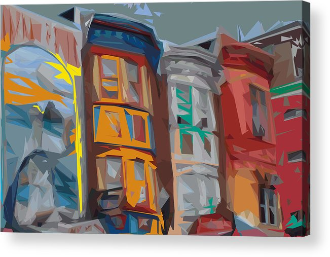 Philadelphia Acrylic Print featuring the digital art South Street Revisited by Kevin Sherf