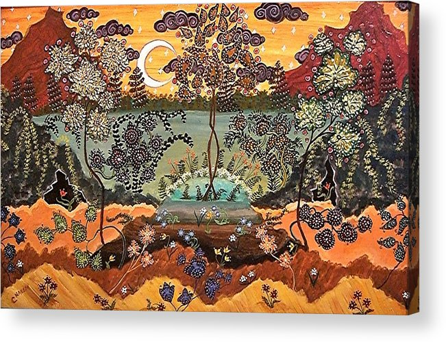 Autumn Colors Acrylic Print featuring the painting Southern Dreamscape by Caroline Urbania Naeem