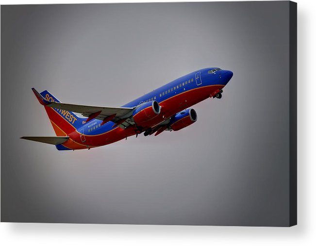 737 Acrylic Print featuring the photograph Southwest Departure by Ricky Barnard
