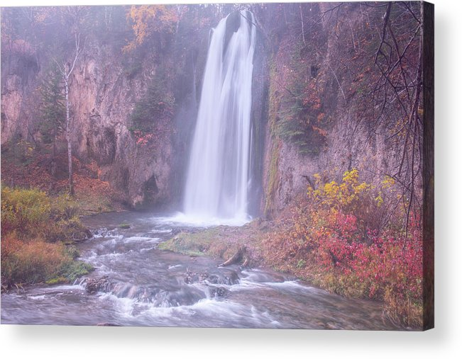 Spearfish Falls Acrylic Print featuring the photograph Spearfish Falls by Angela Moyer