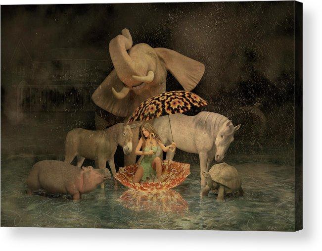 Render Acrylic Print featuring the digital art Spirit by Betsy Knapp