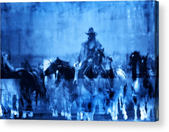Fine Art Acrylic Print featuring the photograph Spirit Herd by Nick Sokoloff
