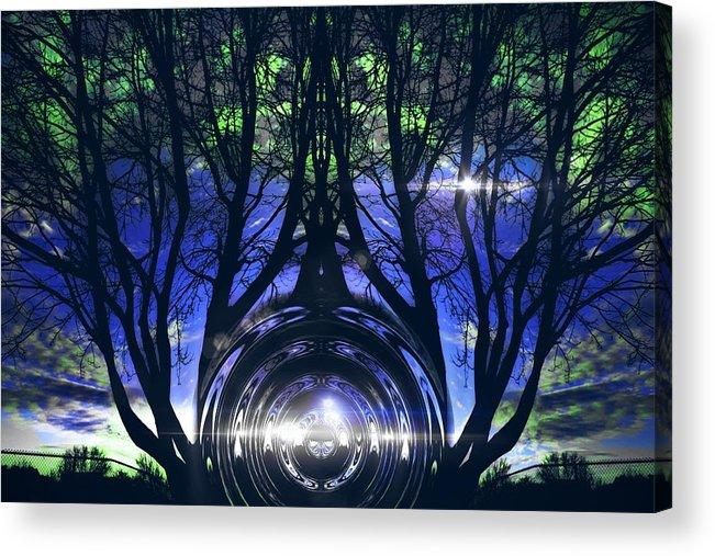 Trees Acrylic Print featuring the digital art Spiritual Roots by Melisha Robinson