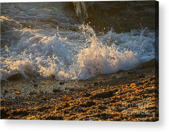 Beach Acrylic Print featuring the photograph Splash by Alicia Heaney