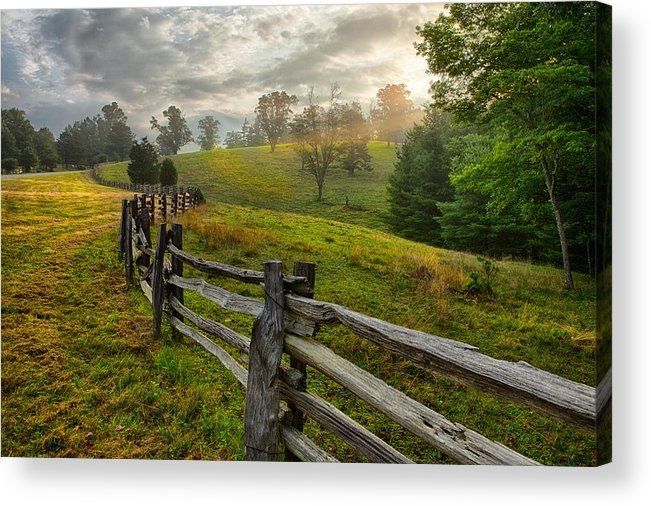 Mountains Acrylic Print featuring the photograph Splash Of Morning Light by Dan Carmichael