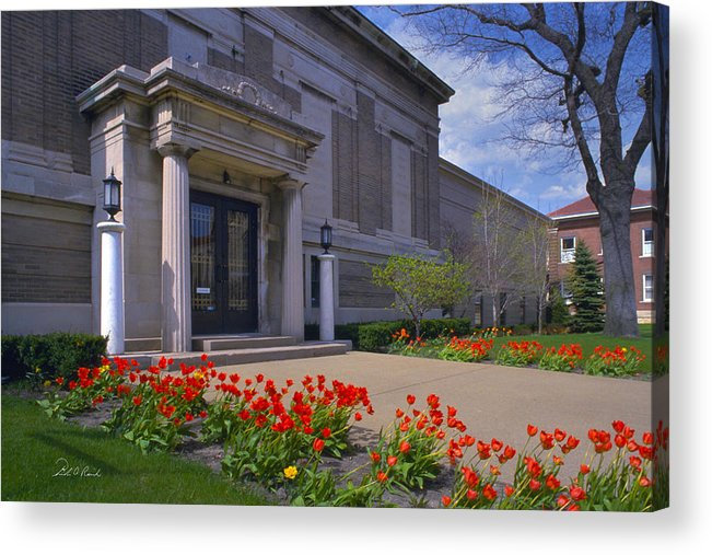 Photography Acrylic Print featuring the photograph Spring Time At The Muskegon Museum Of Art by Frederic A Reinecke