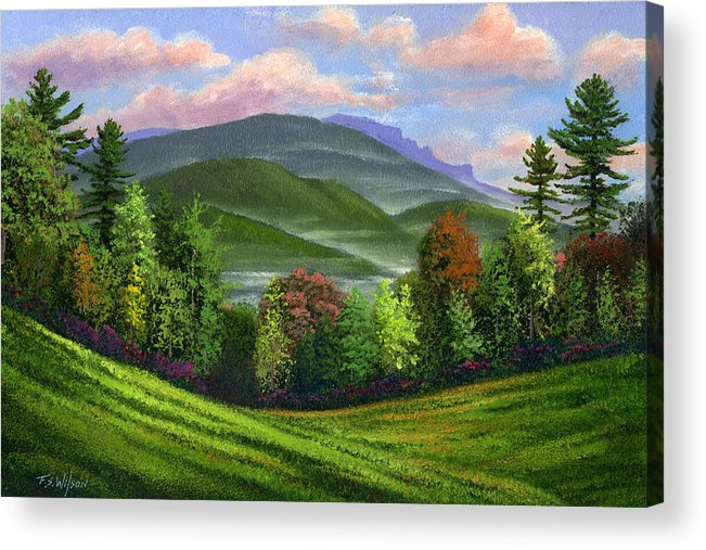Landscape Acrylic Print featuring the painting Spring Time by Frank Wilson