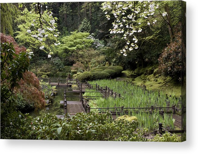 Springtime Walkway Acrylic Print featuring the photograph Springtime Walkway by Wes and Dotty Weber