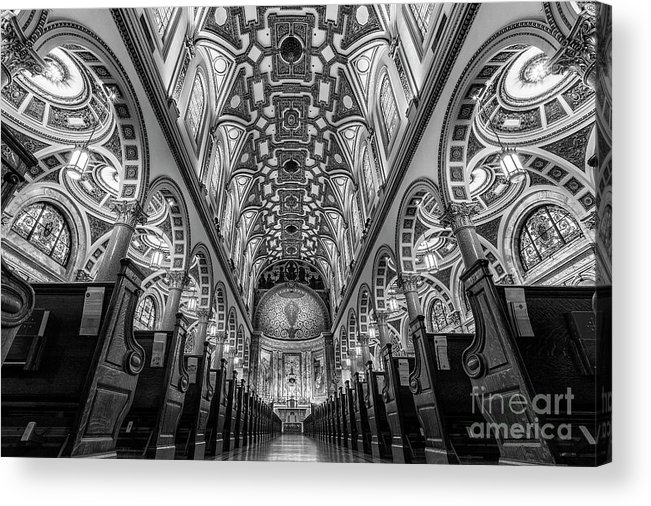 Symmetry Acrylic Print featuring the photograph St Ignatius Loyola Church, Upper East Side New York by Edi Chen