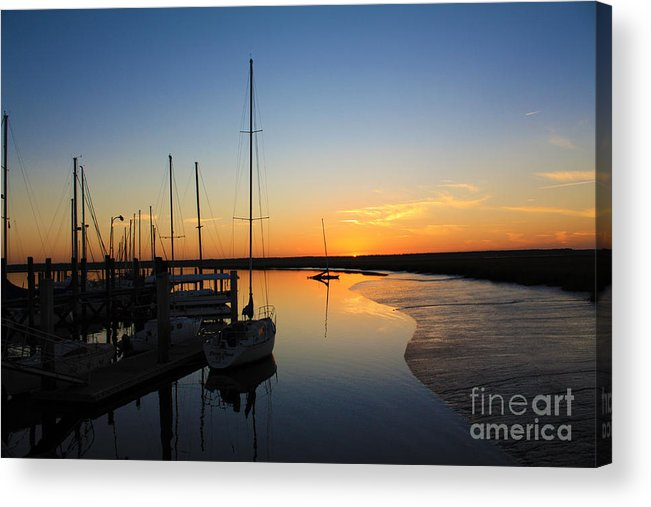 Sunset Acrylic Print featuring the photograph St. Mary's Sunset by Southern Photo