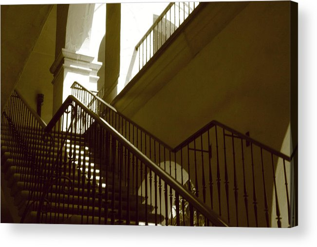 Stairs Acrylic Print featuring the photograph Stairs To 2nd Floor by Nicholas J Mast