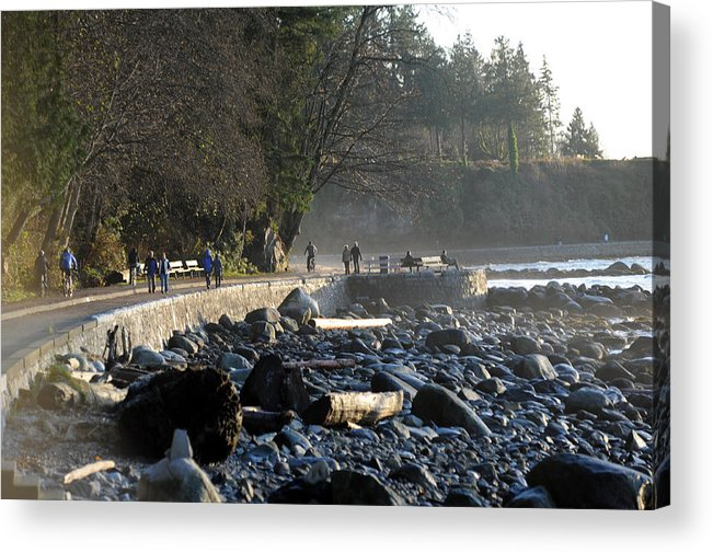 Stanley Park Seawall Acrylic Print featuring the photograph Stanley Park Seawall by Jason Evans