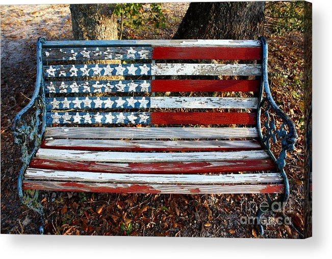 American Flag Display Acrylic Print featuring the photograph Stars And Stripes by Southern Photo