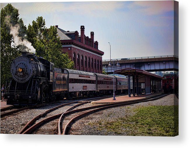 Steam Engine Acrylic Print featuring the photograph Steam Engine Of Cumberland 2 by Christina Durity