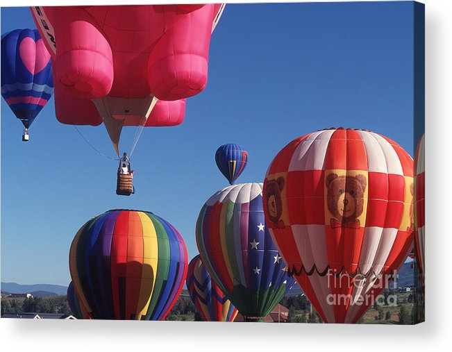 Colorado Acrylic Print featuring the photograph Steamboat Springs Balloons by Stan and Anne Foster