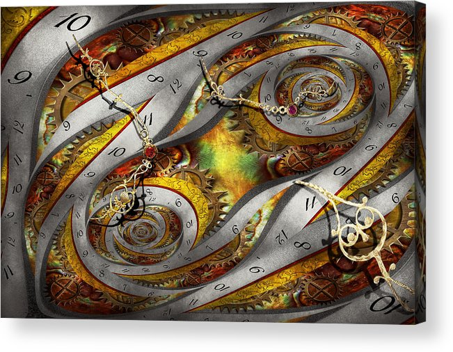 Steampunk Acrylic Print featuring the photograph Steampunk - Spiral - Space Time Continuum by Mike Savad