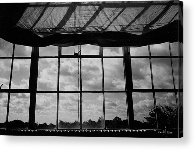 Black And White Acrylic Print featuring the photograph Steel Window by Gerard Yates