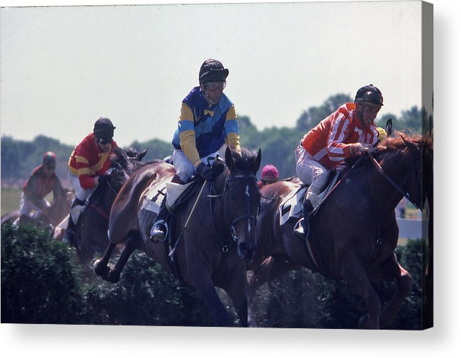 Steeplechase Acrylic Print featuring the photograph Steeplechase - 3 by Randy Muir