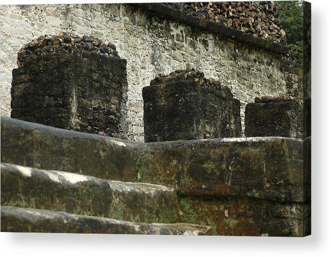 Mayan Ruins Acrylic Print featuring the photograph Step To Sacrifice 2 by Lori Mellen-Pagliaro
