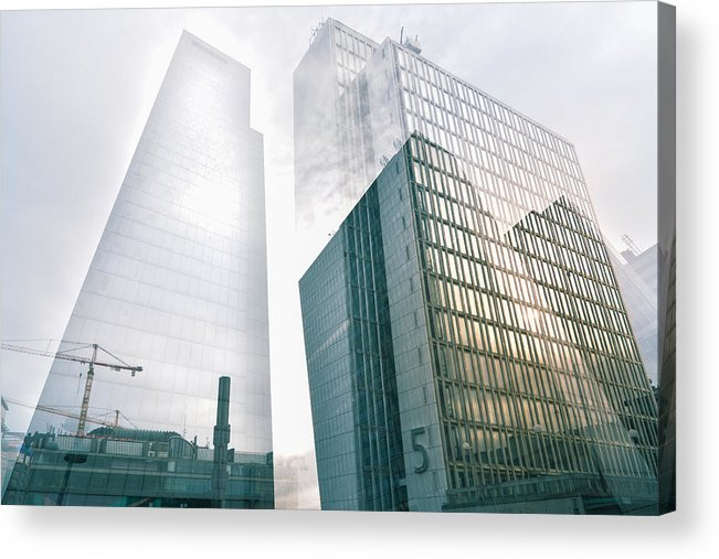 Architecture Acrylic Print featuring the photograph Stockholm Skyscraper No5 by Marcus Karlsson Sall