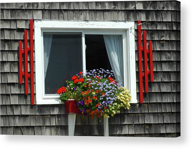 Window Acrylic Print featuring the photograph Stonington Window by Jerry Griffin