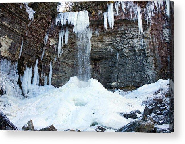 Waterfall Acrylic Print featuring the photograph Stony Kill Falls In February #2 by Jeff Severson