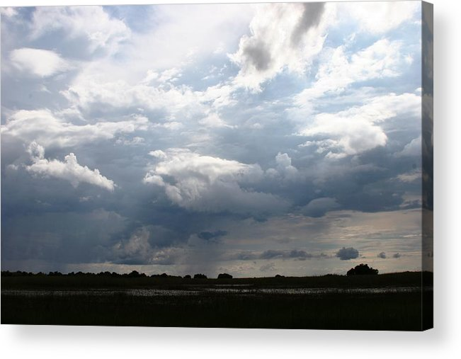 Botswana Acrylic Print featuring the photograph Storm Clouds by Linda Russell