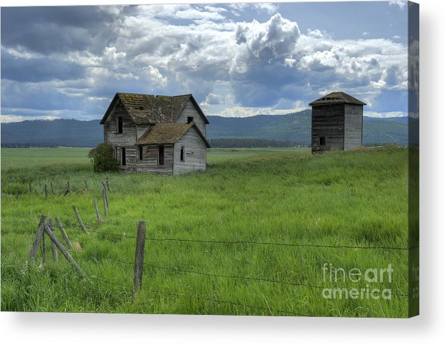 Hdr Acrylic Print featuring the photograph Storm Over Big Sky by Sandra Bronstein