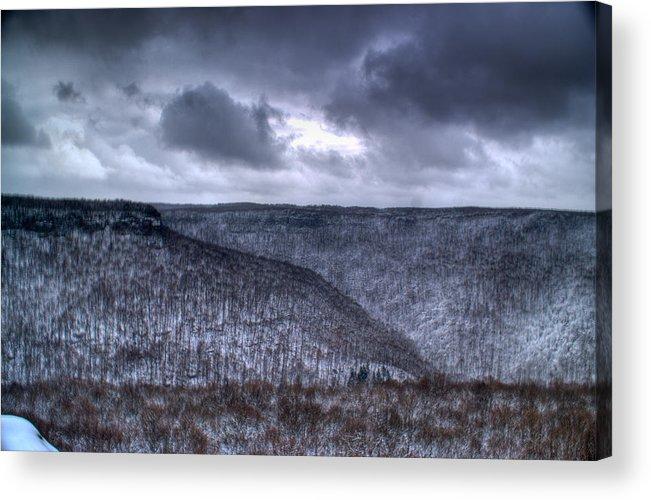 Mesa Acrylic Print featuring the photograph Storm Over The Mesa by Douglas Barnett
