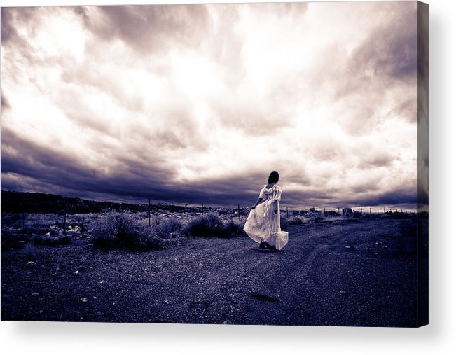 Storm Walk Acrylic Print featuring the photograph Storm Walk by Scott Sawyer