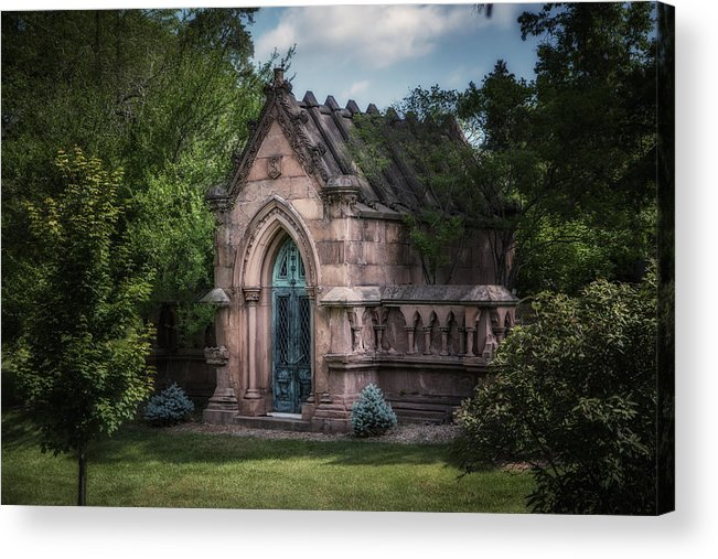Architecture Acrylic Print featuring the photograph Strader Mausoleum by Tom Mc Nemar