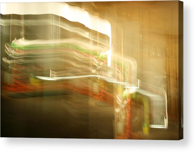 Abstract Acrylic Print featuring the photograph Streak Door Lights by Joshua Sunday