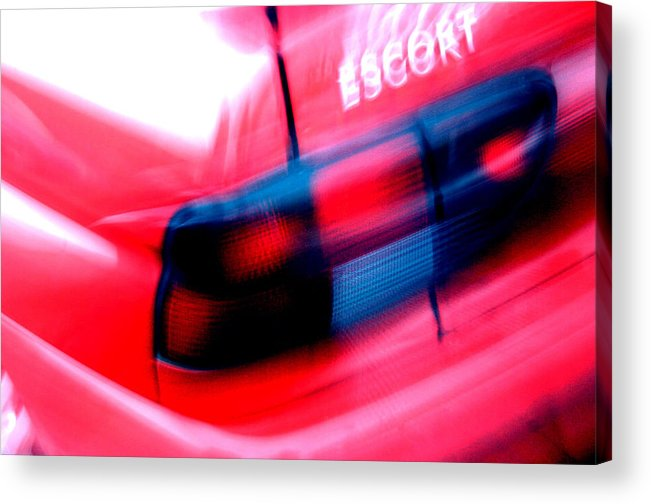 Photographer Acrylic Print featuring the photograph Streaking Escort by Jez C Self