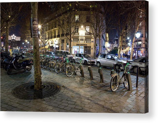 France Acrylic Print featuring the photograph Streets At Saint-michel by Alexander Davydov