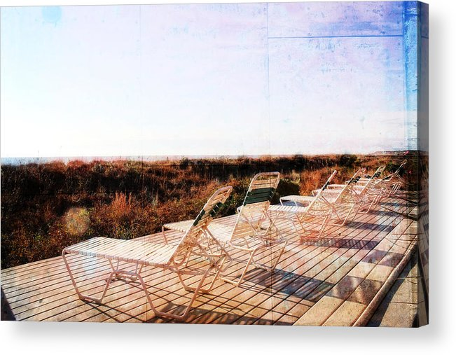 Beach Acrylic Print featuring the photograph Summer By The Sea by Carol Ray