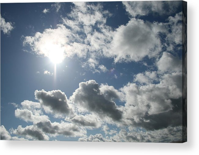 Sky Acrylic Print featuring the photograph Sun Clouds by Joshua Sunday