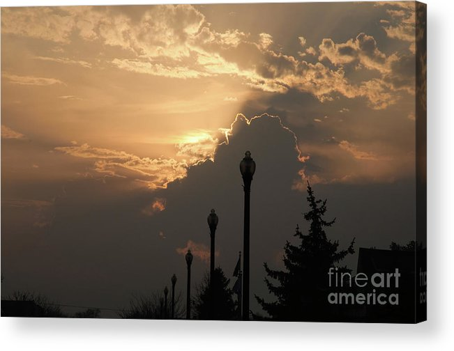 Sun Acrylic Print featuring the photograph Sun In A Cloud Of Glory by Andee Design
