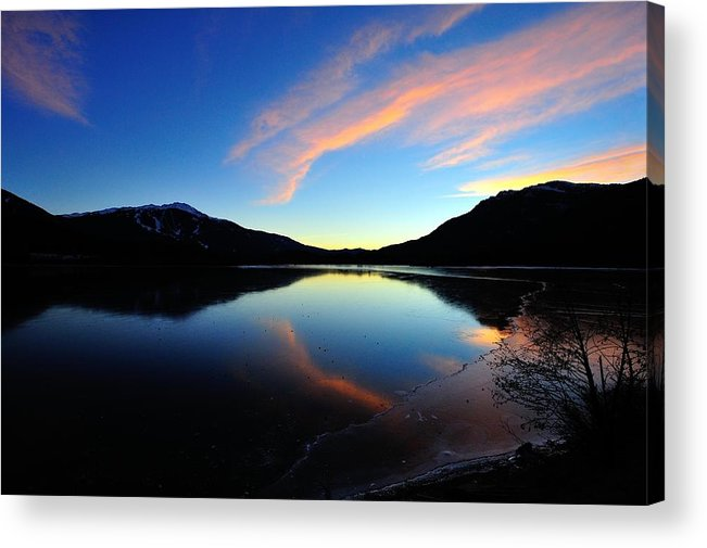 Lake Acrylic Print featuring the photograph Sun Sets On Summer by Dave Steers