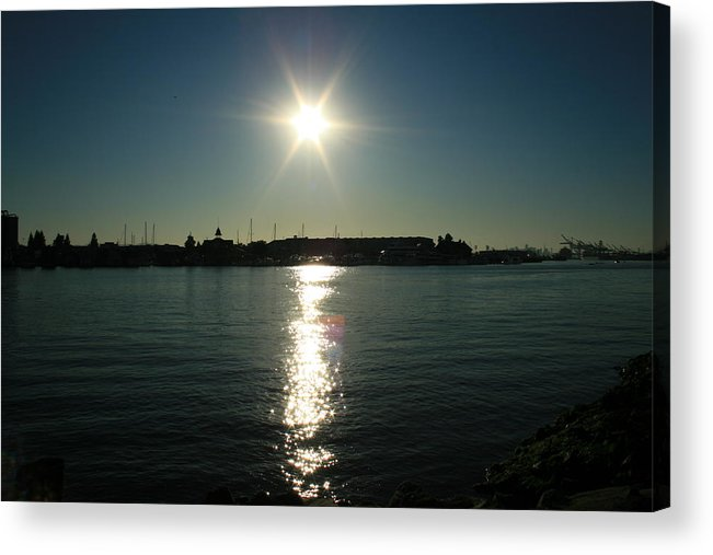 Sun Acrylic Print featuring the photograph Sunlight On The Water by Joshua Sunday