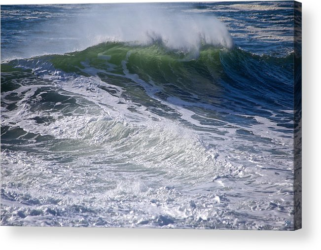 Wave Acrylic Print featuring the photograph Sunlit Wave by John Meader