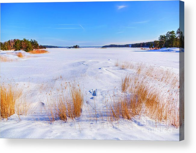 Atmosphere Acrylic Print featuring the photograph Sunny March Day by Veikko Suikkanen