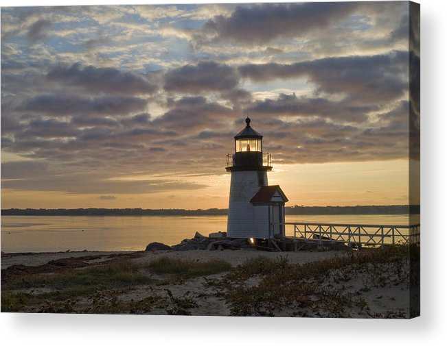 Krauzyk Acrylic Print featuring the photograph Sunrise At Brant Point Nantucket by Henry Krauzyk
