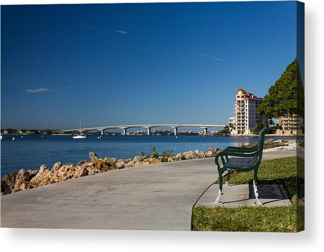 Marina Jacks Acrylic Print featuring the photograph Sunrise At Ringling Bridge by Michael Tesar