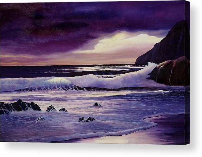 Sunrise Acrylic Print featuring the painting Sunrise Cove by Mark Regni