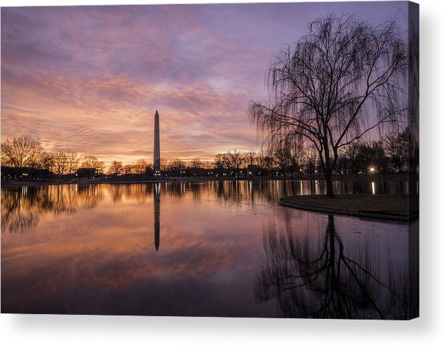 Alexandria Acrylic Print featuring the photograph Sunrise Over Constitution Gardens by Michael Donahue