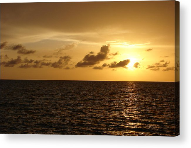 Sunset Acrylic Print featuring the photograph Sunset - Gulf Of Mexico by Reel Shots