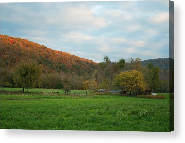 Landscape Acrylic Print featuring the photograph Sunset At Boxley Valley Arkansas by David Waldrop