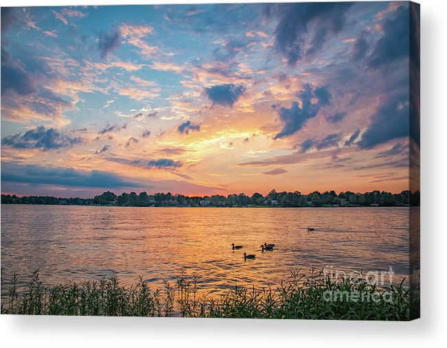 Morse Lake Acrylic Print featuring the photograph Sunset At Morse Lake by Sophie Doell