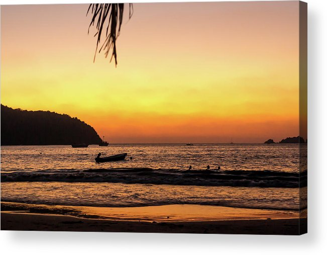 Sunset Acrylic Print featuring the photograph Sunset At Playa La Ropa by Tina Ernspiker